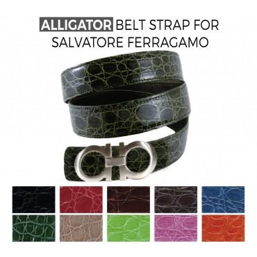 c9750f9f9e Cintura di ricambio in Coccodrillo per fibbie SALVATORE FERRAGAMO ...