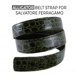 Cintura di ricambio in Coccodrillo per fibbie SALVATORE FERRAGAMO