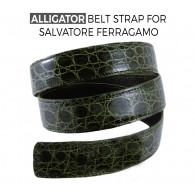 Artisan Alligator Belt Strap Replacement for SALVATORE FERRAGAMO Buckles