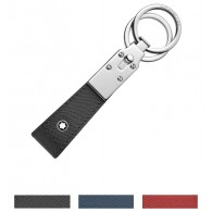 Montblanc Sartorial Dark Grey Key Fob with two Metal Rings