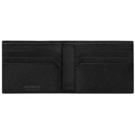Montblanc Portafoglio Sartoriale Nero con 3 tasche per carte di credito e portamonete