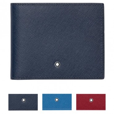 Montblanc Sartorial Indigo Blue Wallet 6cc
