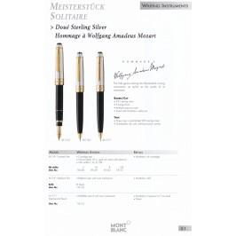 Montblanc Meisterstück Solitaire Doué Portamine in Argento 925 Matita Mozart HàWAM