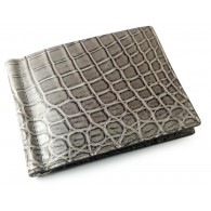 Premium Men's Slim Alligator Wallet IN&OUT using Bottega Veneta's own Custom tan