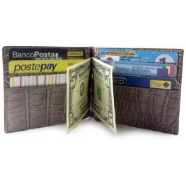 Premium Men's Slim Alligator Wallet IN&OUT using Bottega Veneta's own Custom tan