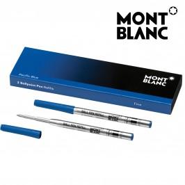 Montblanc 116212 Confezione da 2 Refill Blu (F) Pacific Blue per Penna a Sfera