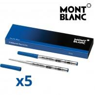 Montblanc 116212 Confezione da 10 Refill Blu (F) Pacific Blue per Penna a Sfera