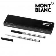 Montblanc 116190 Confezione da 2 Refill Neri (M) Mystery Black per Penna a Sfera