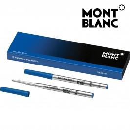 Montblanc 116213 Confezione da 2 Refill Blu Media (M) Pacific Blue per Penna a Sfera