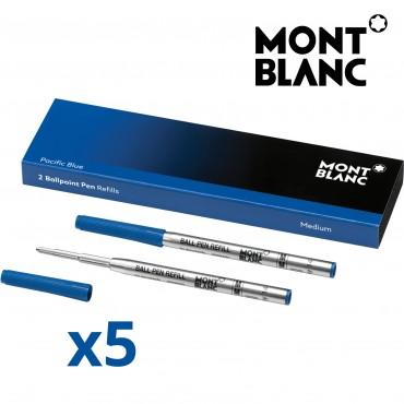 Montblanc 116213 Confezione da 10 Refill Blu Media (M) Pacific Blue per Penna a Sfera