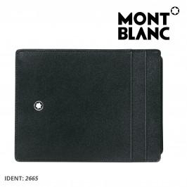 Custodia Montblanc Portafoglio Uomo e Porta documento in Pelle Nera