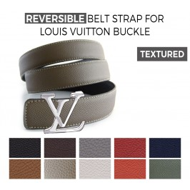 Reversible Textured Belt Strap Replacement for LOUIS VUITTON Signature Buckles