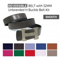 Reversible Smooth Belt with Unbranded H 32MM Bucke Belt Kit