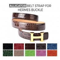 Alligator Belt Strap for HERMES Buckle Belt Kit: Color Choice