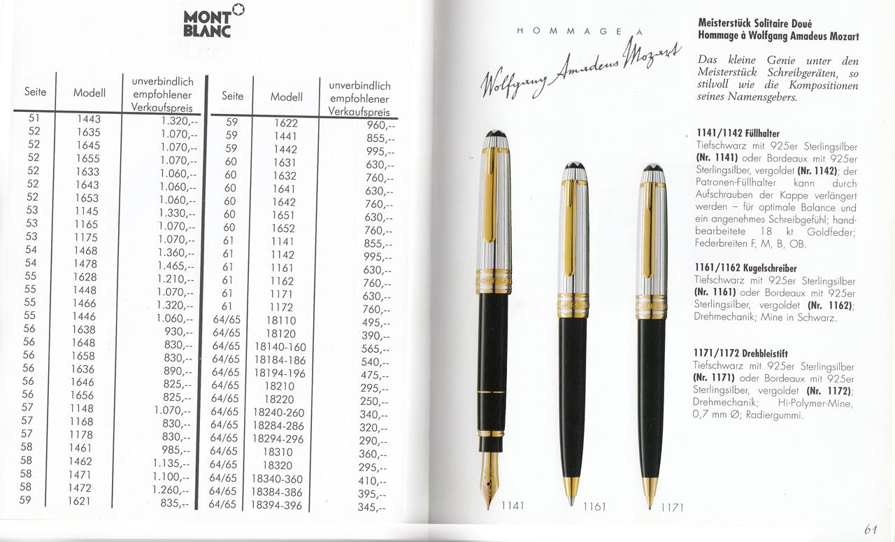 Montblanc Original Montblanc Deutsche Book