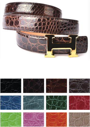 Replacement Belt Alligator Leather for Hermes Buckles