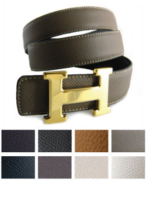 Replacement Belt Strap Textured Leather for Hermes Buckles
